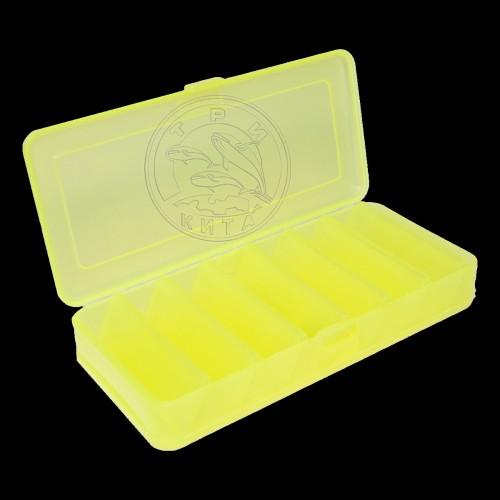 КОРОБКА для воблеров и балансиров ВБ-1 желтая 2-х стор.(7+7отд.)(190х85х35мм)