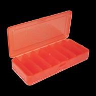 КОРОБКА для воблеров и балансиров ВБ-1 красная 2-х стор.(7+7отд.)(190х85х35мм)