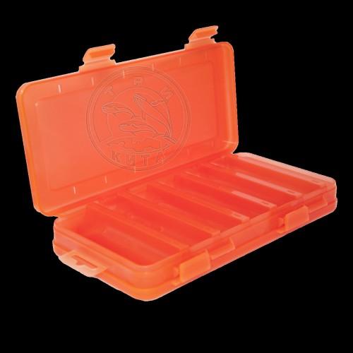 КОРОБКА для воблеров и балансиров ВБ-2 красная 2-х стор.(6+6отд.)(230х125х35мм)