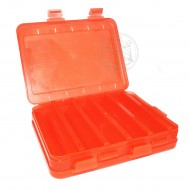 КОРОБКА для воблеров и балансиров ВБ-3 красная 2-х стор.(5+5отд.)(200х160х45мм)