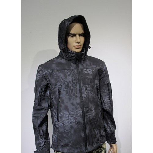 Куртка софтшелл черный питон