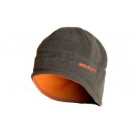 Шапка зимняя двусторонняя цвет Хаки/Оранжевый ткань Флис
