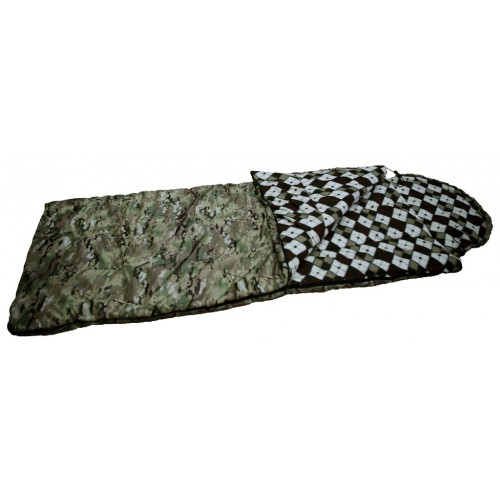 """Спальный мешок-одеяло """"Аляска"""" ( -25С, тк.оксфорд цв. КМФ)"""