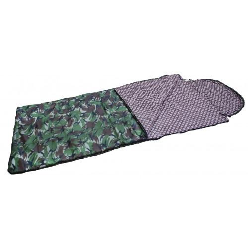 """Спальный мешок-одеяло """"Аляска"""" ( 0С, тк.таффета цв. КМФ)"""