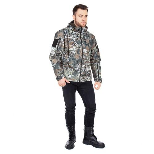 Куртка демисезонная Камелот цвет Гамма Пиксель ткань Softshell