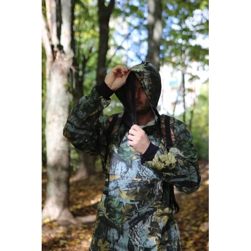 """Костюм """"Антигнус-Люкс"""" цв. Темный лес тк. Смесовая, с ловушками, с пыльниками"""