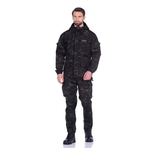 Костюм летний Горка-3 цвет Черный мультикам ткань Смесовая Рип-Стоп