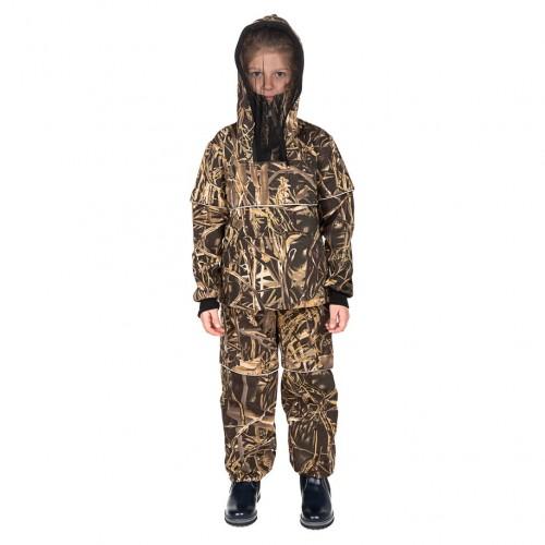 Костюм летний Детский Антигнус-Люкс с ловушками и пыльниками цвет Камыш ткань Смесовая
