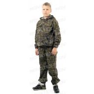 Костюм детский  летний Скаут (смесовая, зеленая цифра)
