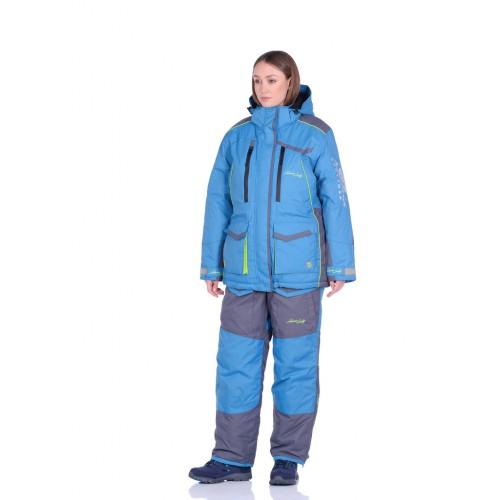 Костюм зимний Женский Siberia Lady цвет Бирюза/Серый ткань Breathable -35°С
