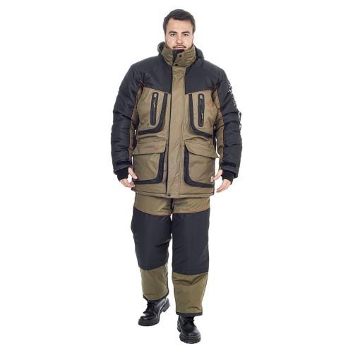 Костюм зимний Siberia LUX цвет Хаки/Черный ткань Breathable