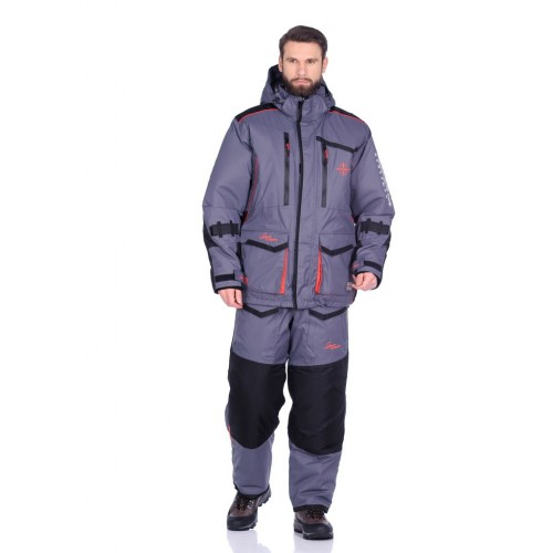 Костюм зимний Поплавок Siberia Floating цвет Серый/Черный ткань Breathable до -45°С