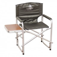 Кресло складное со столиком, алюминий AKS-05