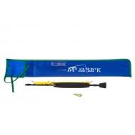 Удилище RX-5, оснащённое гирляндой из разных блёсен с зазубриной длина удочки 81 см, 3 блесны разных моделей