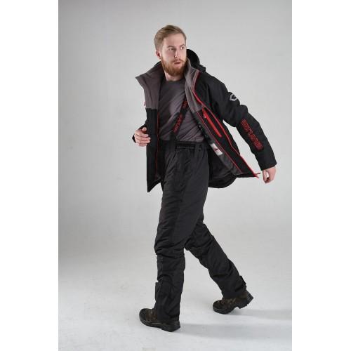 Костюм демисезонный «Магеллан» (нейлон, черно-красный) с вышивкой  GRAYLING