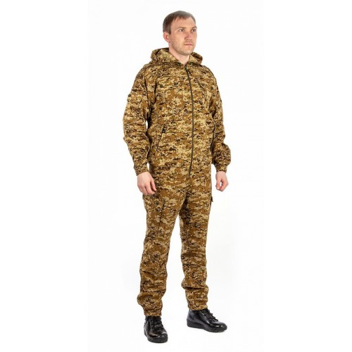 Костюм летний «Спецназ» (рип-стоп, коричневая цифра) КВЕСТ
