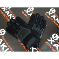 Перчатки тактические прорезиненные, black