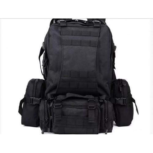 Рюкзак тактический с подсумками, black