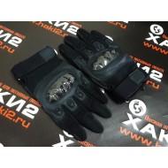 Перчатки тактические со вставкой carbon, top quality, черные