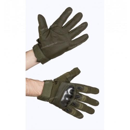 Перчатки тактические со вставкой carbon ,top quality, олива