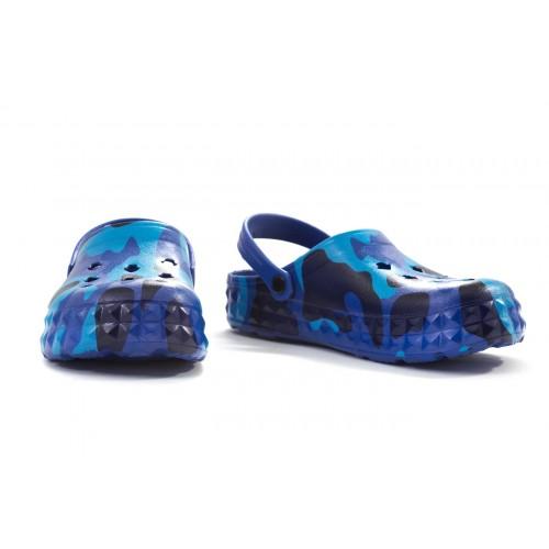 Сабо детские, материал ЭВА, синий камуфляж