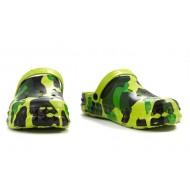 Сабо детские, материал ЭВА, зеленый камуфляж