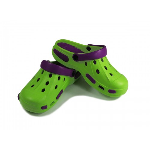 Сабо детские, материал ЭВА, зелено-фиолетовый