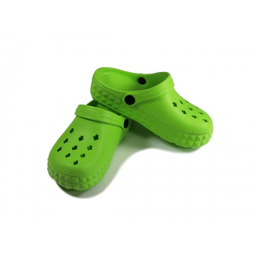 Сабо детские, материал ЭВА, зеленый